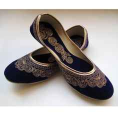 Royal Blue Shoes/Blue Flats/Gold Shoes/Ethnic Shoes/Velvet Shoes/Handmade Indian Designer Women Shoes/Maharaja Style Women Jooties on Etsy, $36.50 CAD