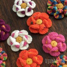 Flores 3D bobble crochet. English subtitles video: Bobble crochet 3D flowers…