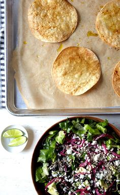 On the Menu: Simple Corn Tostada Salad - Clementine Daily