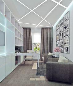 современный кабинет - Поиск в Google Gypsum Ceiling Design, House Ceiling Design, Home Ceiling, Ceiling Decor, Fall Ceiling Designs Bedroom, Bedroom Furniture Design, Living Room Designs, Coridor Design, Modern Interior Design