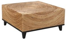Handwoven with twisted abaca, this eye-catching coffee table adds natural elegance to your space with its textural, woven surface.