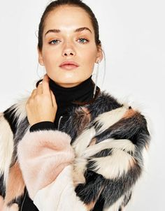 Discover this and many more items in Bershka with new products every week Fur Bomber, Bomber Jacket, Faux Fur, Fur Coat, Jackets, Clothes, Fashion, Down Jackets, Moda