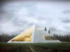 Em um concurso de arquitetura, o arquiteto mexicano  Juan Carlos Ramos apresentou o projeto de uma casa-conceito em forma de pirâmide.
