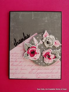 """Ink-Creatable Works of Heart: Painted Flowers """"Thanks"""" - Freshly Made Sketches…"""