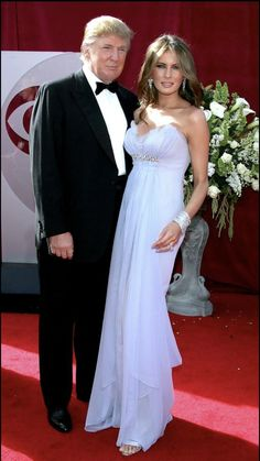 81a7ac3c497 Melania Trump Evening Dress - Melania Trump looked ethereal in her strapless  lavender gown at the Emmy Awards.