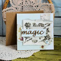 Kartka uniwersalna - Magic Rap, Cards, Painting, Decor, Decoration, Painting Art, Paintings, Map, Painted Canvas