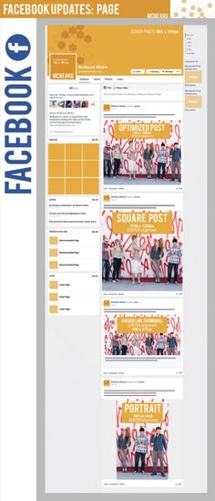 FaceBook updates page #infografia #infographic #socialmedia