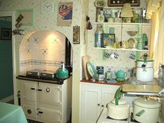 kitchen by the vintage cottage