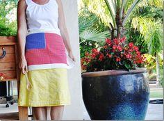 Easy DIY ~ Patriotic dishtowel apron