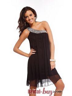 A-line Flower Black Sequins Mini-length Cocktail Dress | Pretty ...