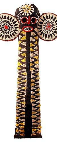 Bamileke Beaded Elephant Mask 15, Cameroon