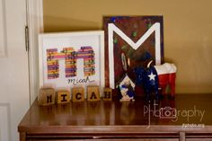 love the ideas this lady has for children's art turned room decor