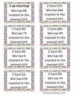 I Have, Who Has Rounding Game - will start with small groups w/ white boards.
