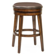 Hillsdale Beechland 30.5 in. Backless Swivel Bar Stool - The simple design and comfort of the Hillsdale 30.5-in. Beechland Backless Swivel Bar Stool make it the perfect choice for the unfussy affair of an ev...