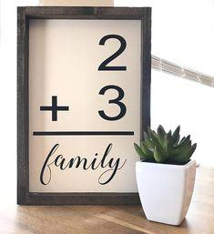 Family Flashcard Sign   Farmhouse Style Wood Sign   Farmhouse Decor