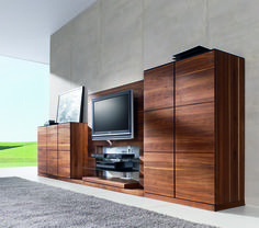 TEAM7 makes the most spectacular luxury home entertainment units in the world! #walnut #solid wood #media #stand #living #room #tv #custom