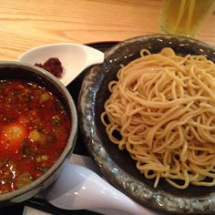 Kara Tsukemen from Santouka. The dipping sauce was lovely! #santouka #おいしい #ラーメン #delicious #ramen #つけ麺 #からい #spicy #Tsukemen #toronto #japanesefood by ramenronin