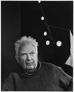 Alexander Calder by Yousuf Karsh.  Calder was an American sculptor best known as the originator of the mobile, a type of kinetic sculpture.