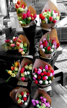 Shared by Tina. Find images and videos about flowers, bouquet and tulips on We Heart It - the app to get lost in what you love. Flowers Nature, Fresh Flowers, Spring Flowers, Beautiful Flowers, Beautiful Bouquets, Spring Bouquet, Colorful Flowers, Flower Power, My Flower