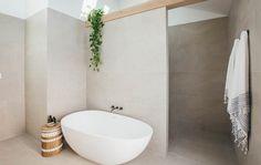 Long Jetty Renovation Episode 6 - Bathtime Large Wall Tile - Elmina White' from Beaumont Tiles. Laundry In Bathroom, Bathroom Inspo, Bathroom Renos, Bathroom Inspiration, Bathroom Interior, Master Bathroom, Bathroom Designs, Bathroom Ideas, Kyal And Kara