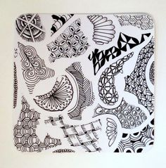 Sue's tangle trips: Zen through a stencil Tangle Art, Easy Drawings, Doodle Art, Altered Art, Tangled, Craft Supplies, Stencils, Projects To Try, Arts And Crafts