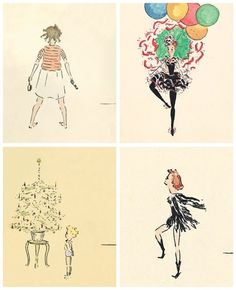Audrey Hepburn Childhood Drawings