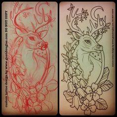 cute deer tattoo - Google Search