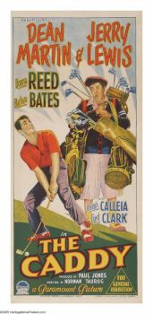 """Movie Posters:Sports, The Caddy (Paramount, 1953). Australian Daybill (13"""" X 30""""). HarveyMiller (Jerry Lewis) is an expert with his golf clu..."""