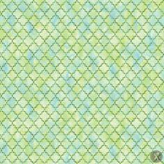 Peony Passion Lattice Fabric - Green
