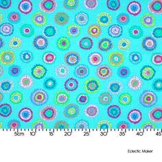 Kaffe Fassett Laminated Fabric Plink in Turquoise