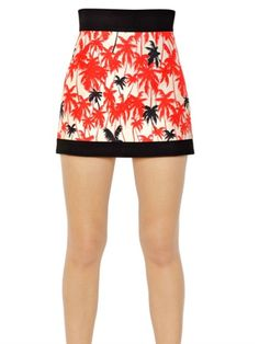Love this: FAUSTO PUGLISI Multicolor Silk Twill High Waisted Palm Skirt  @Lyst