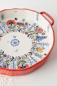 Marian Pie Dish by Anthropologie in Assorted, Kitchen Ceramic Painting, Ceramic Art, Ceramic Pottery, Pottery Art, Keramik Design, Pottery Painting Designs, Kitchenware, Tableware, Anthropologie Uk