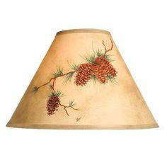 Hand Painted Pinecone Lamp Shade