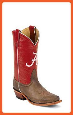 Nocona Womens LDALA22 University of Alabama Collegiate Embroidered Boots-Tan 9.0 B - Boots for women (*Amazon Partner-Link)