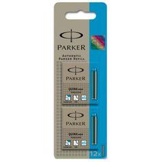 Genuine Parker Quink fountain pen refills short cartridges,Turquoise Ink x 6