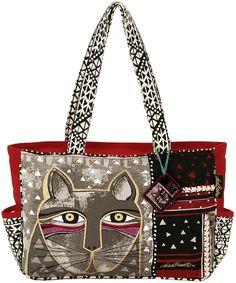Laurel Burch Cat Print Tote Handbags