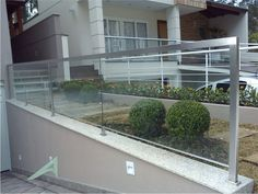 guarda corpo de vidro e aluminio branco encaixe - Pesquisa Google