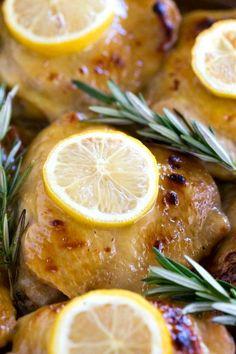 Baked Lemon Honey Mustard Chicken - make ahead prep makes this a super easy dinner recipe!
