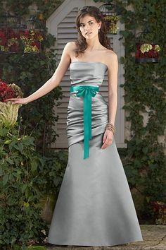 Colors: Marcasite / Jade    Fabrics: Duchess Satin / Single Faced Satin Ribbon
