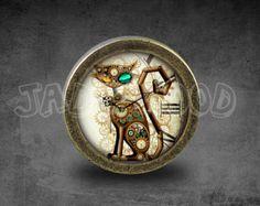 Steampunk Glass Cabochon Bronze cabinet Dresser Knobs pull / Dresser Pull / Cabinet Knobs / Furniture Knobs