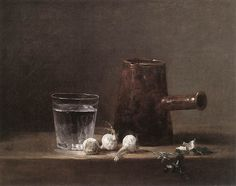 Jean Chardin, Water Glass and Jug, 1760