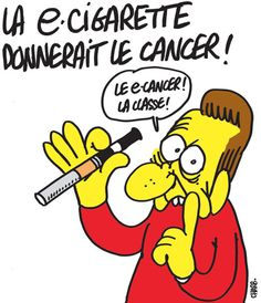 Dessin de Charb: cigarette électronique