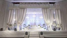 45 Best Ideas For Wedding Garden Party Dress Receptions Reception Stage Decor, Wedding Stage Decorations, Luxury Wedding Decor, Malay Wedding, Garden Party Wedding, Fabric Decor, Wedding Designs, Dream Wedding, Wedding Things