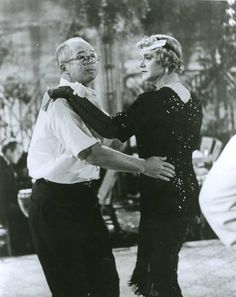 """Jack Lemmon and Billy Wilder on the set of """"Some Like It Hot"""": directing Jack in the """"tango-until-dawn-with-Osgood"""" scene."""