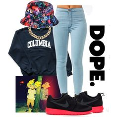 """Dope."" by bloobaaa on Polyvore"