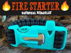 Oqard Reflective Paracord Fire Starter with Clip Hook