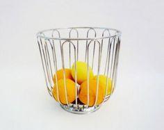 Vintage Big Metal Fruits Basket