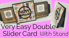 Easy Double Slider Card With Stand   Video Tutorial