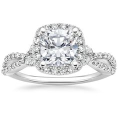 18K White Gold Luxe Willow Halo Diamond Ring (1/2 ct. tw.) from Brilliant Earth