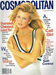 CLAUDIA SCHIFFER | COSMOPOLITAN AUGUST,1994 COVER PHOTOGRAPHED BY SCAVULLO